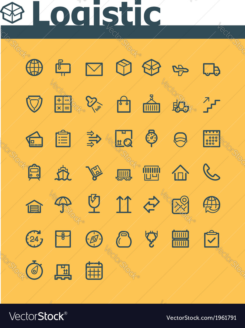 Logistic icon set vector | Price: 1 Credit (USD $1)