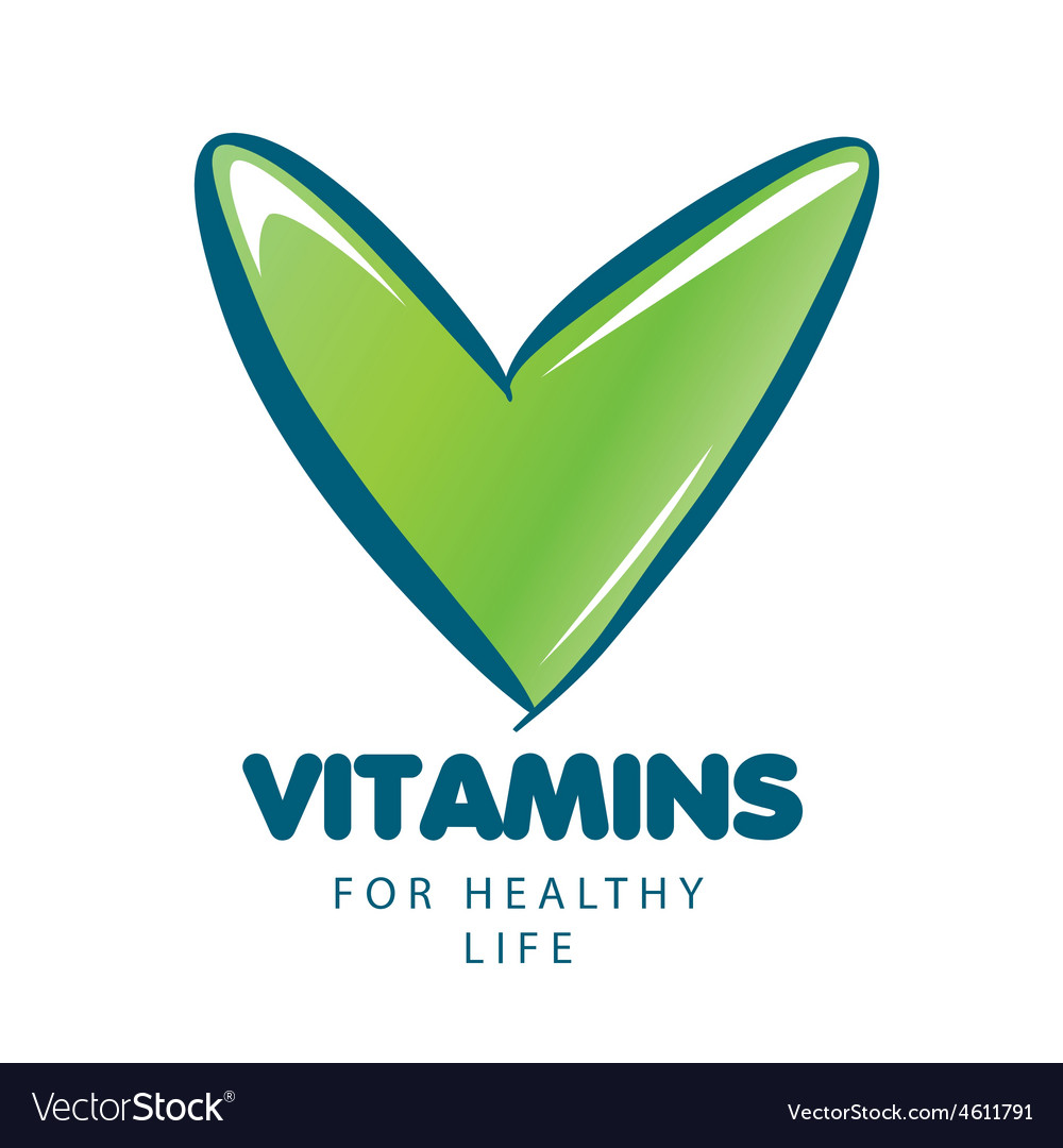 Logo vitamins with green tick vector | Price: 1 Credit (USD $1)