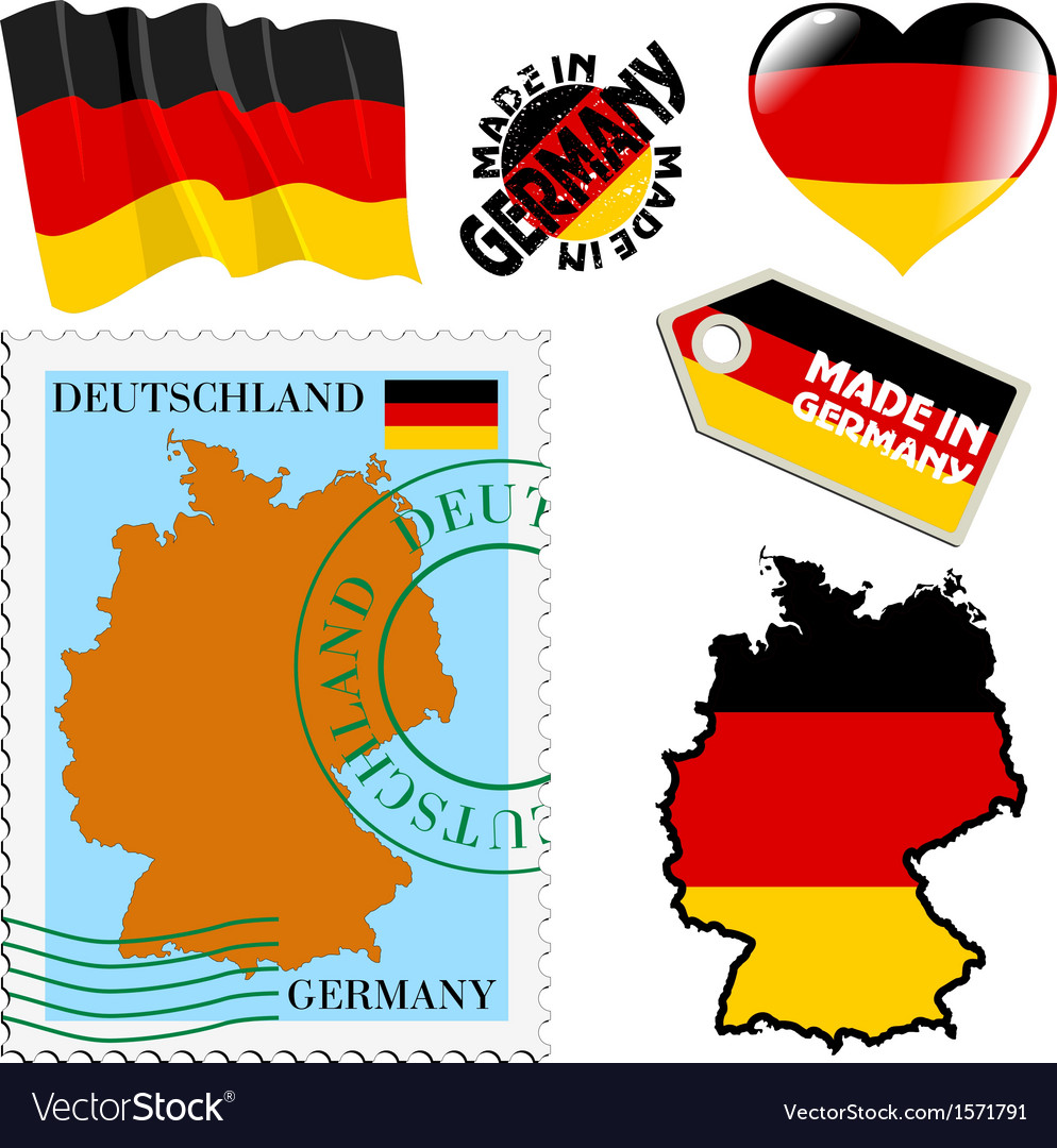 National colours of germany vector | Price: 1 Credit (USD $1)