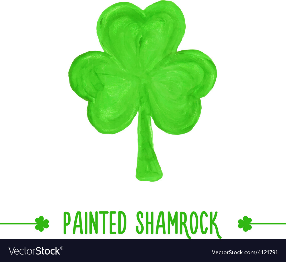 Painted shamrock vector | Price: 1 Credit (USD $1)