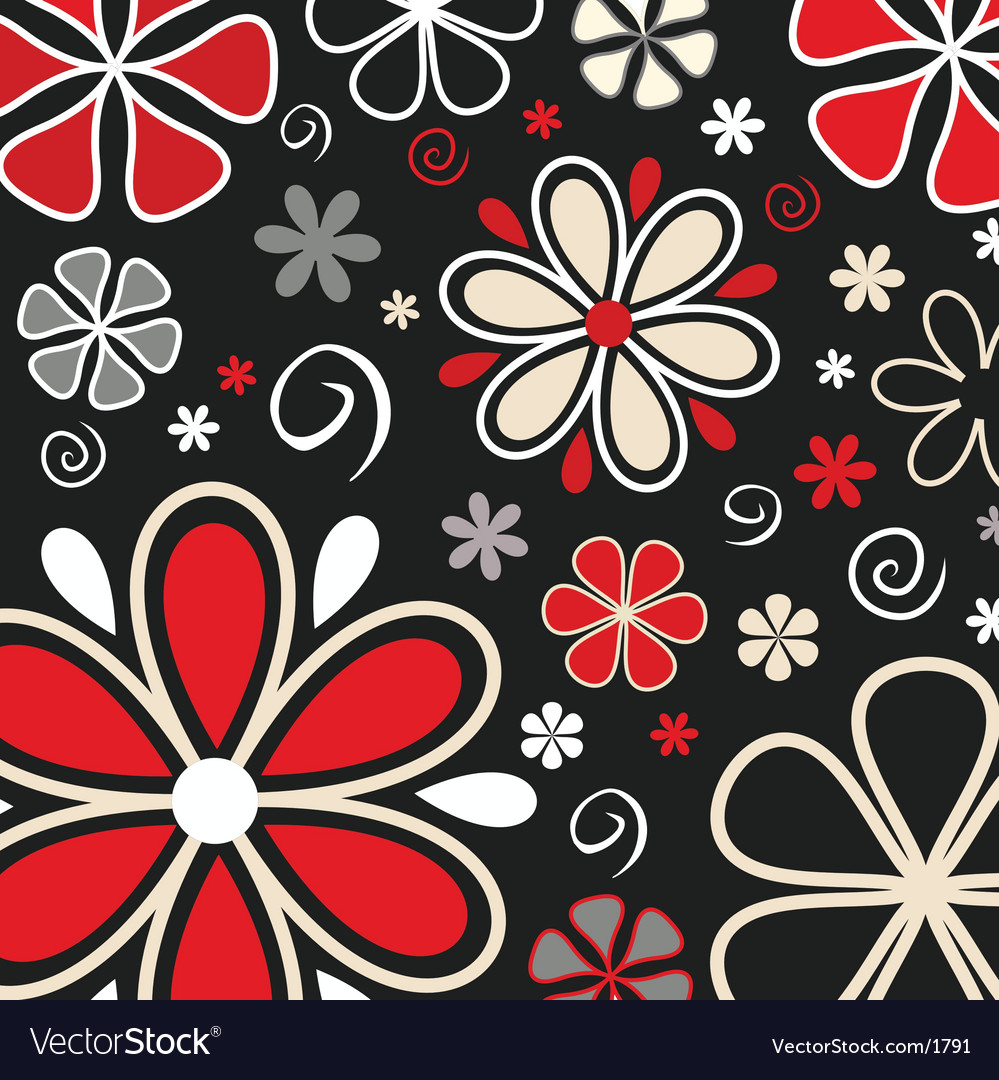 Retro flowers vector | Price: 1 Credit (USD $1)