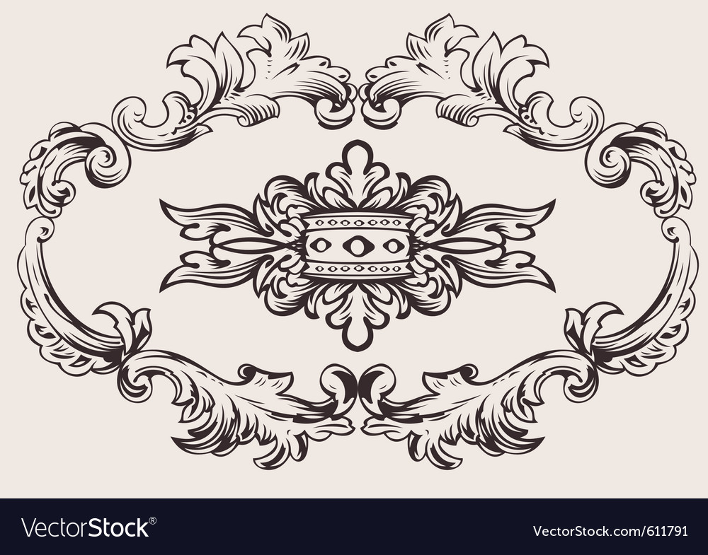 Royal frame decoration vector | Price: 1 Credit (USD $1)
