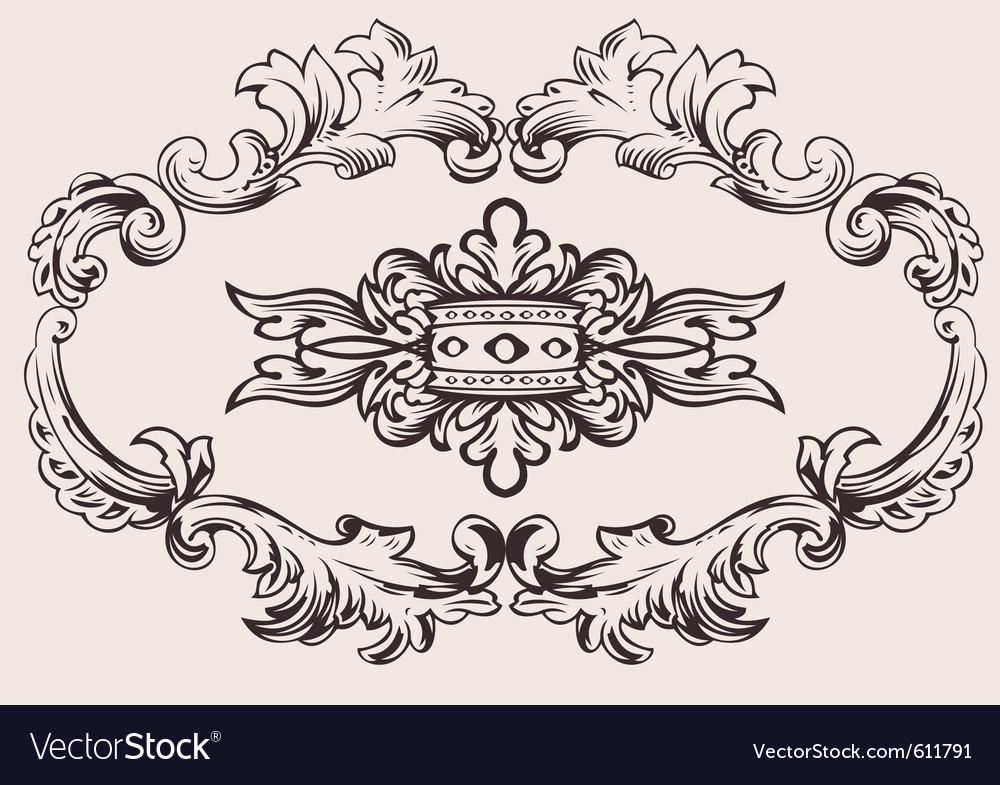 Royal frame decoration vector | Price: 1 Credit (USD $1)