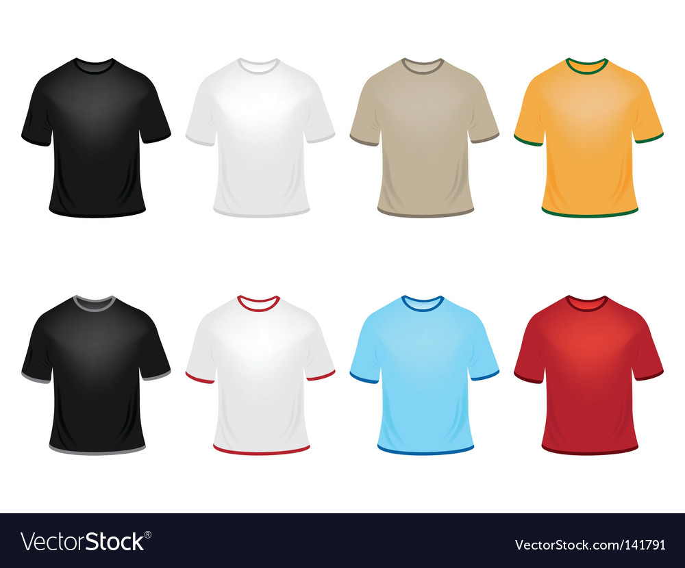 Set of t-shirts vector | Price: 1 Credit (USD $1)