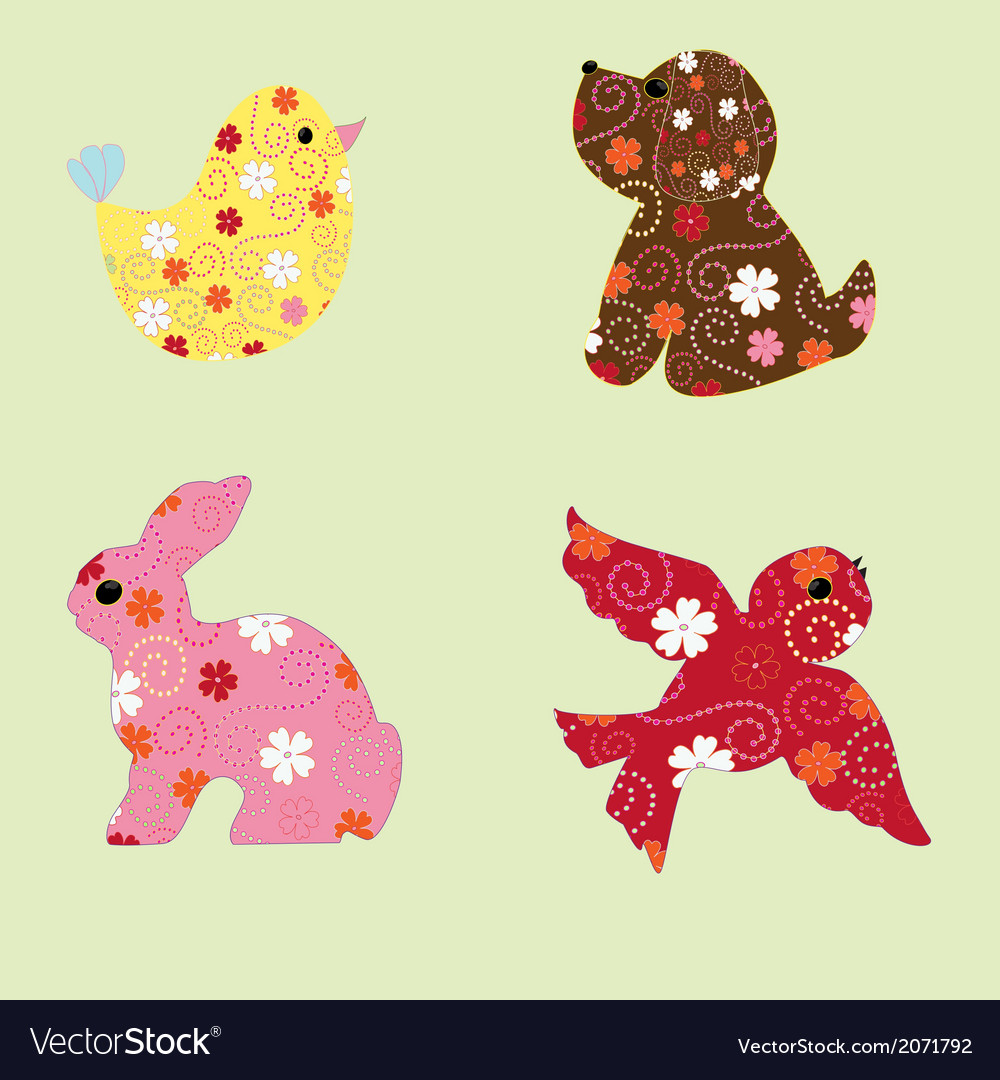 Animal figurines vector | Price: 1 Credit (USD $1)