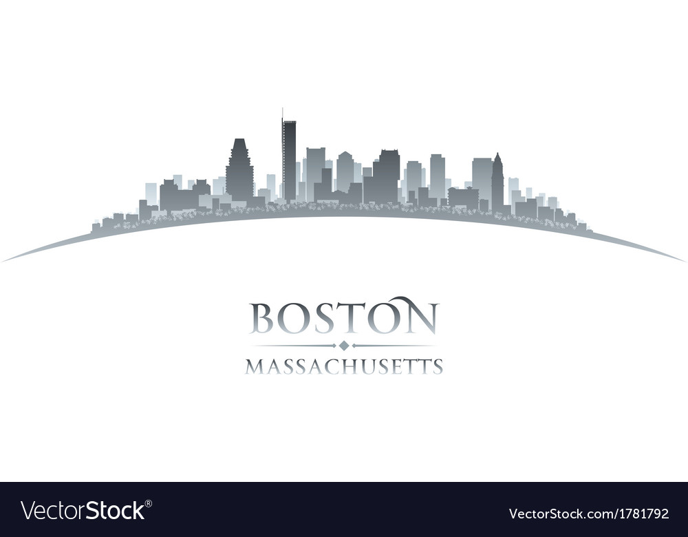 Boston massachusetts city skyline silhouette vector | Price: 1 Credit (USD $1)