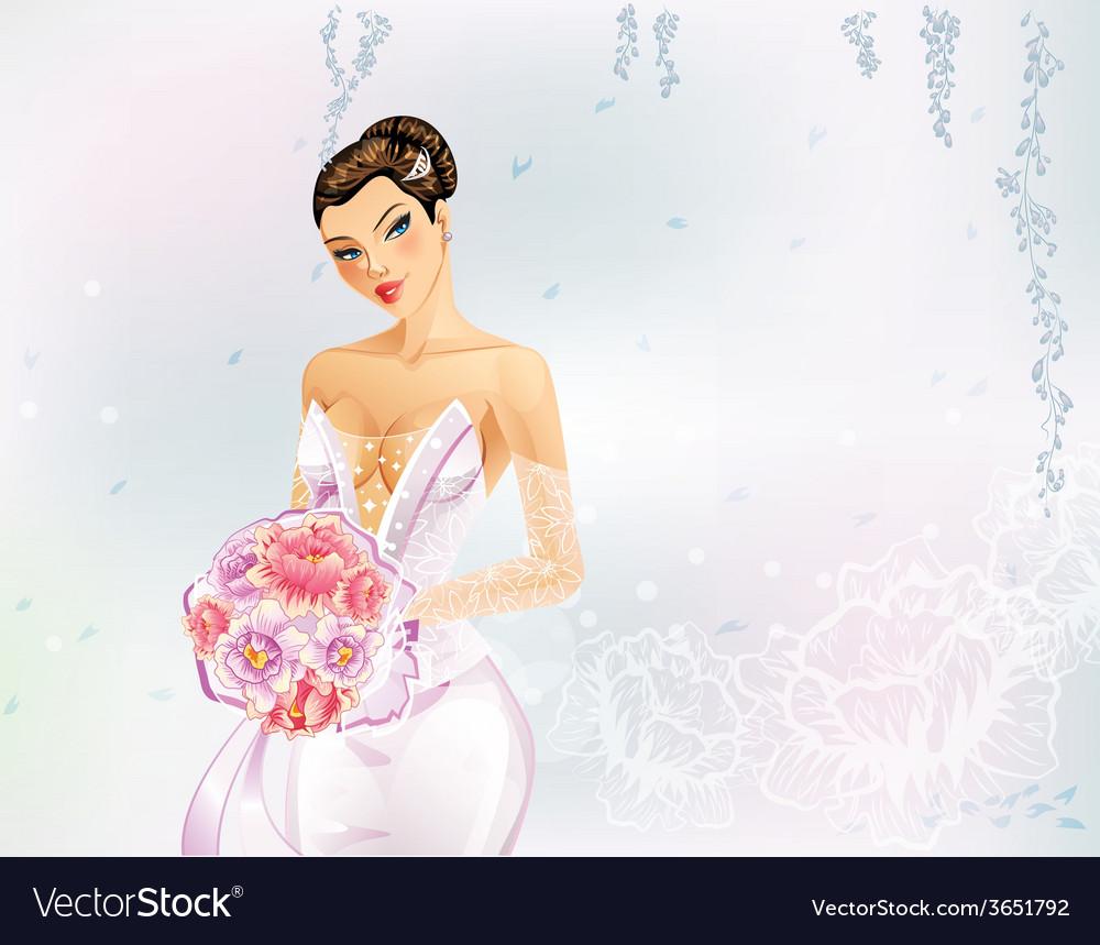 Elegant bride vector | Price: 3 Credit (USD $3)