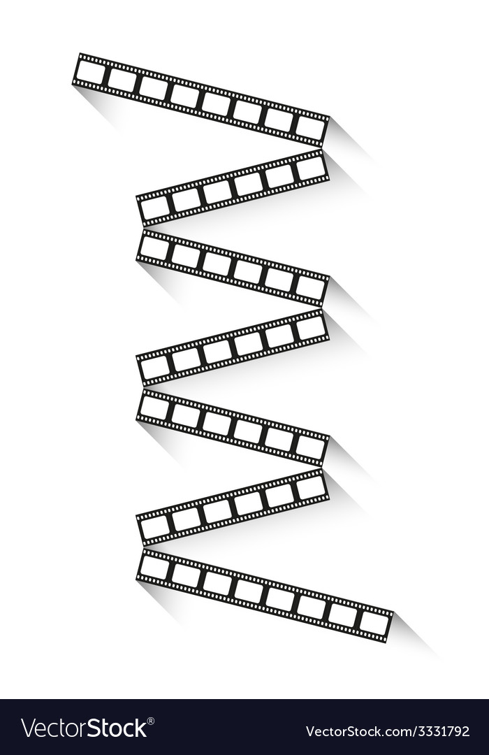 Filmstrips with shadow vector | Price: 1 Credit (USD $1)
