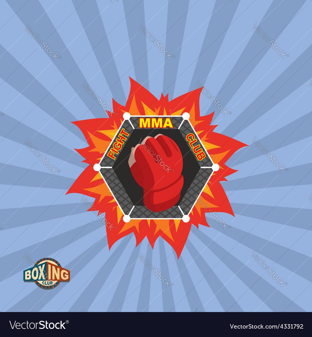 Mixed martial arts logo mma emblem vector | Price: 1 Credit (USD $1)