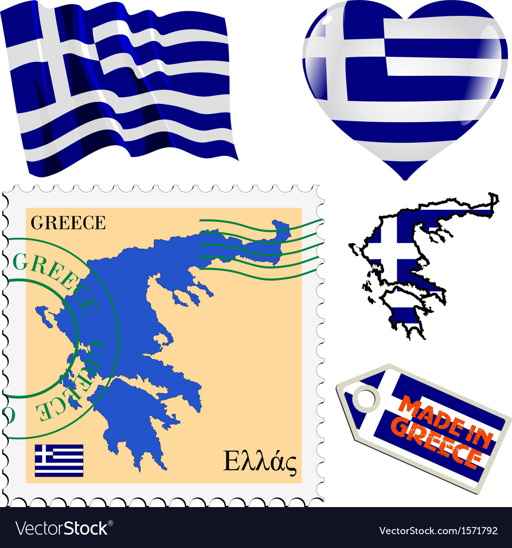 National colours of greece vector | Price: 1 Credit (USD $1)