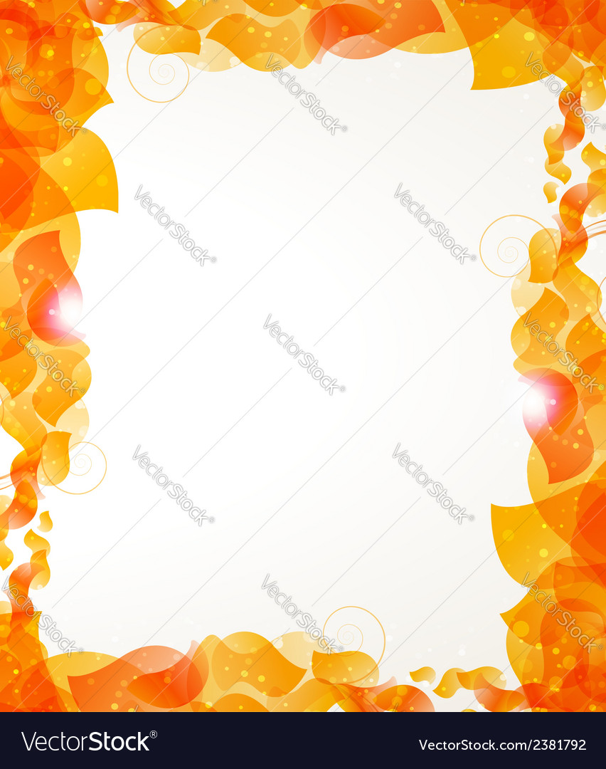 Orange petals frame vector | Price: 1 Credit (USD $1)