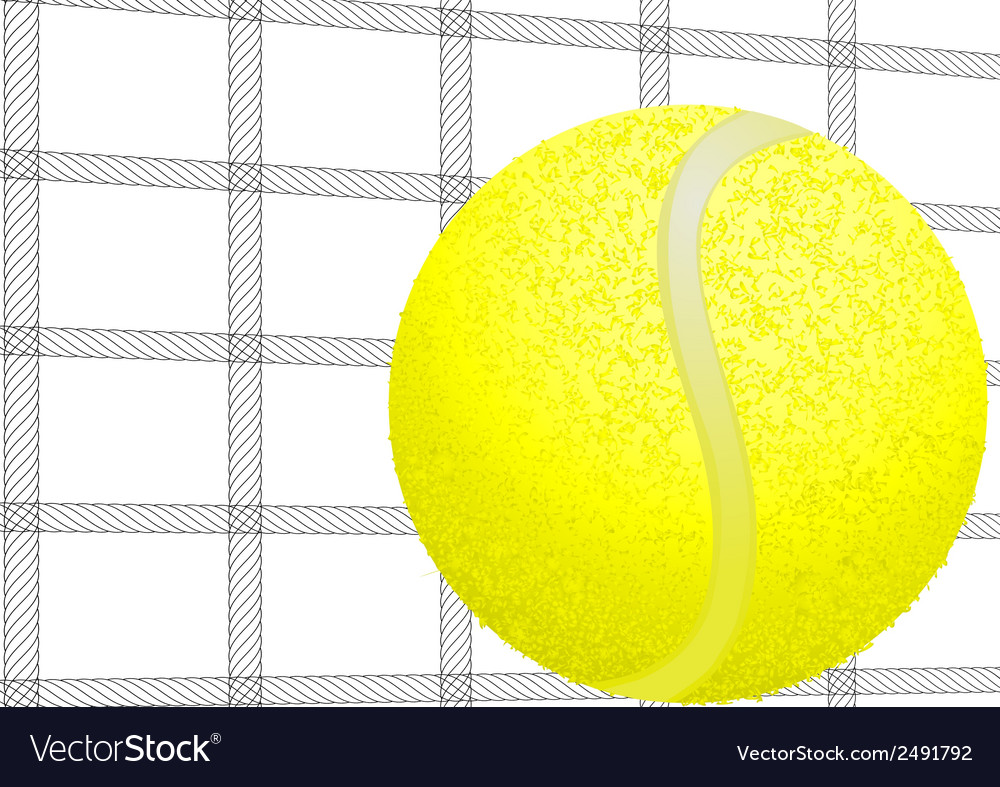 Tennis ball and net vector   Price: 1 Credit (USD $1)