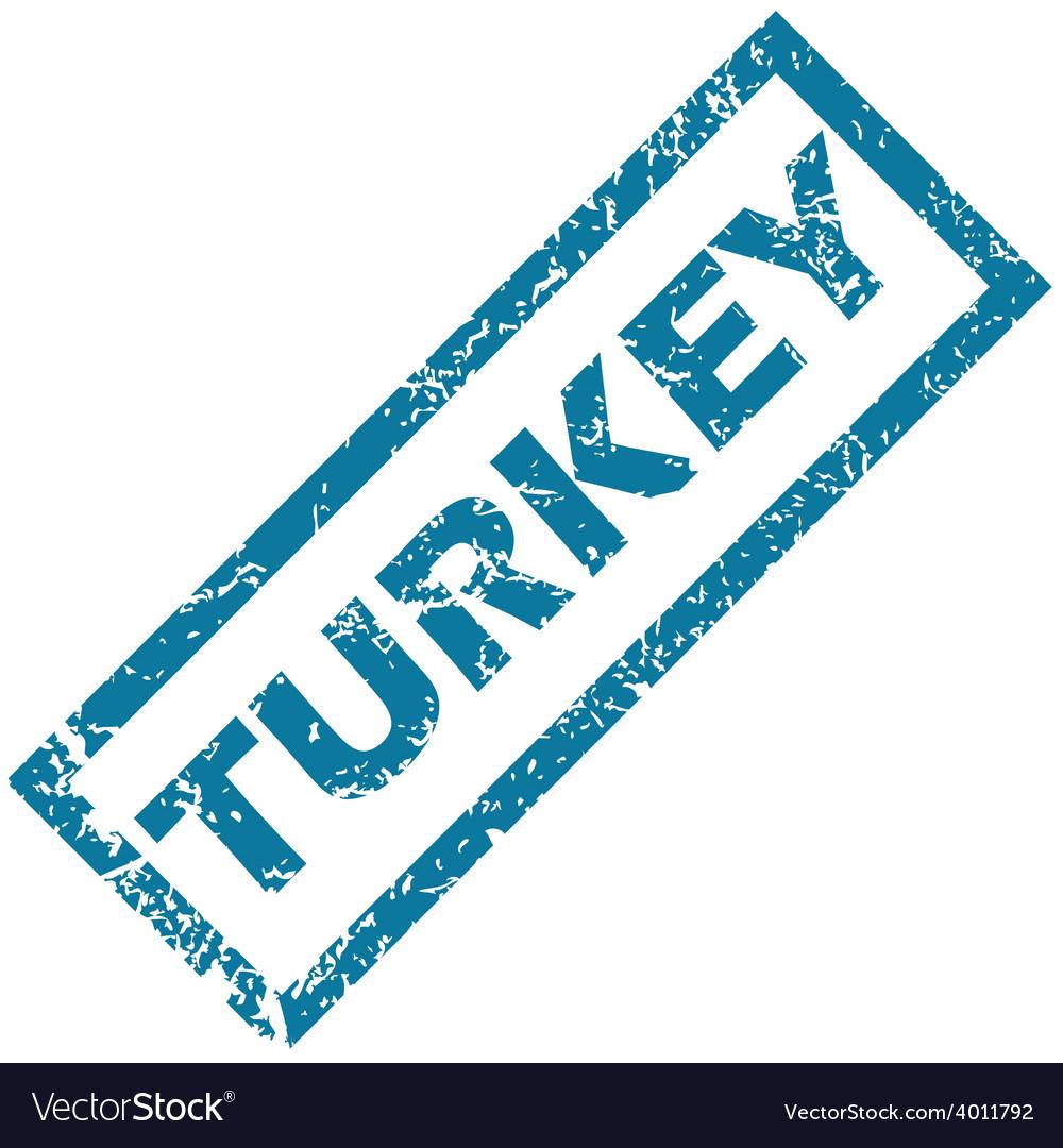 Turkey rubber stamp vector | Price: 1 Credit (USD $1)