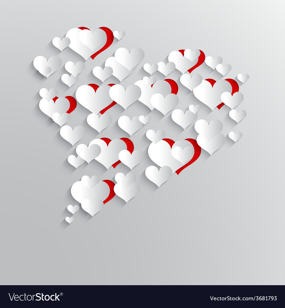 Abstract background with paper hearts vector   Price: 1 Credit (USD $1)