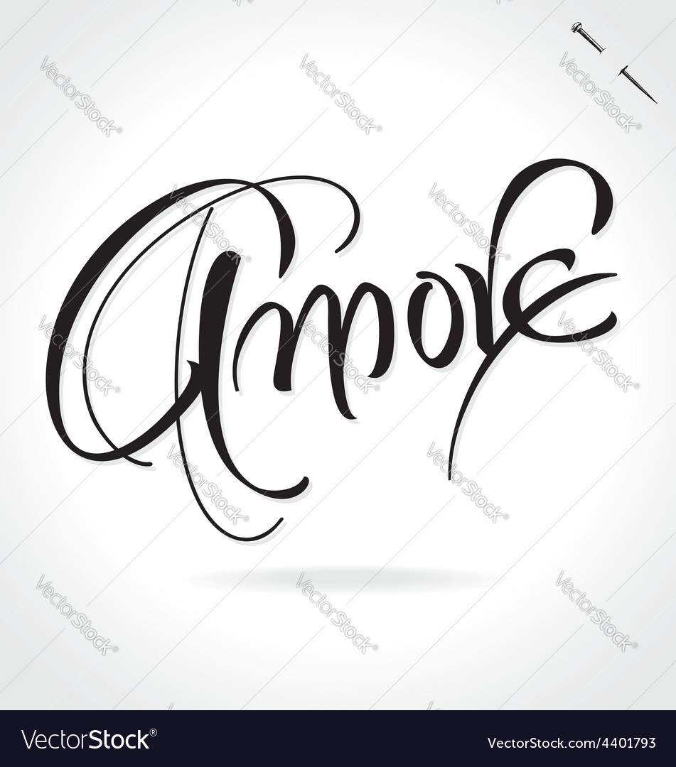 Amore original custom hand lettering vector | Price: 1 Credit (USD $1)