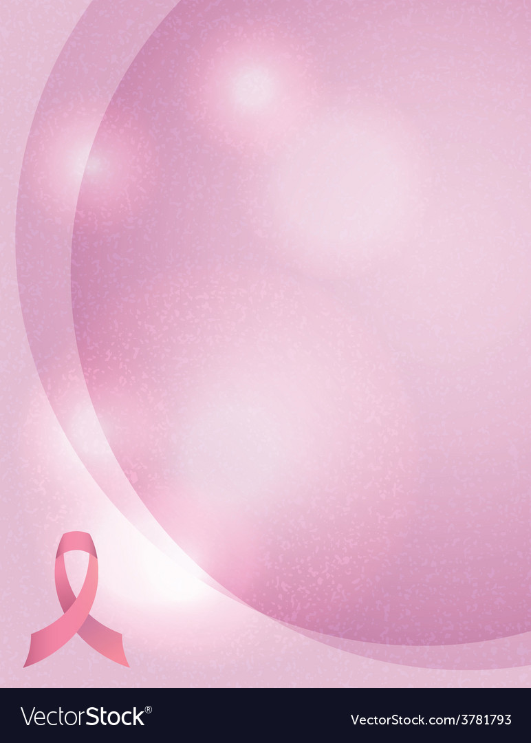 Breast cancer awareness ribbon and background vector | Price: 1 Credit (USD $1)