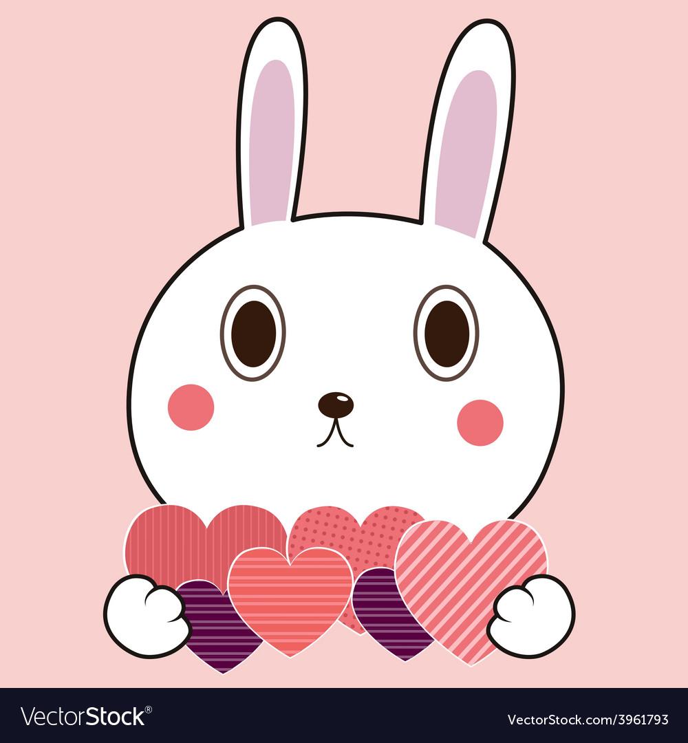 Bunny heart vector   Price: 1 Credit (USD $1)