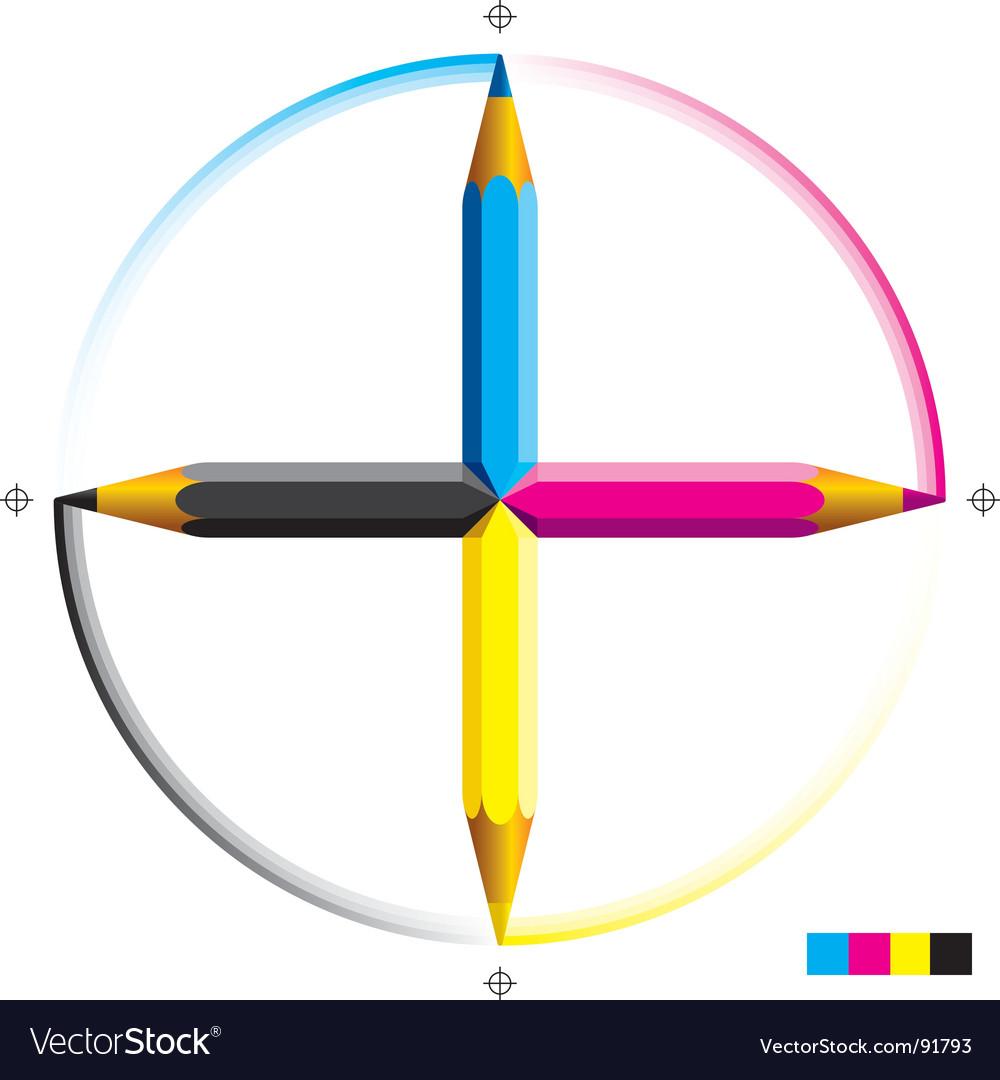 Cmyk pencils vector | Price: 1 Credit (USD $1)