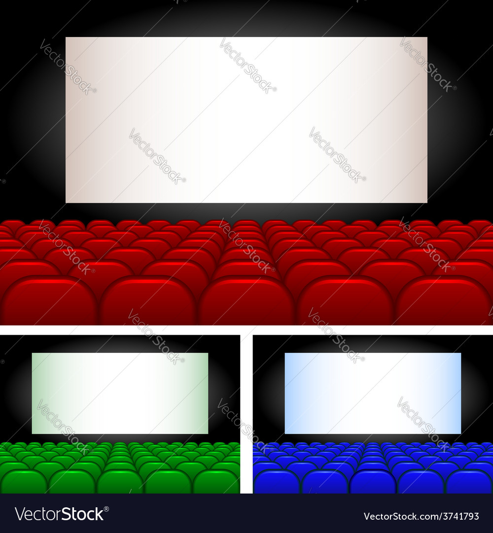 Collection auditoriums vector | Price: 1 Credit (USD $1)