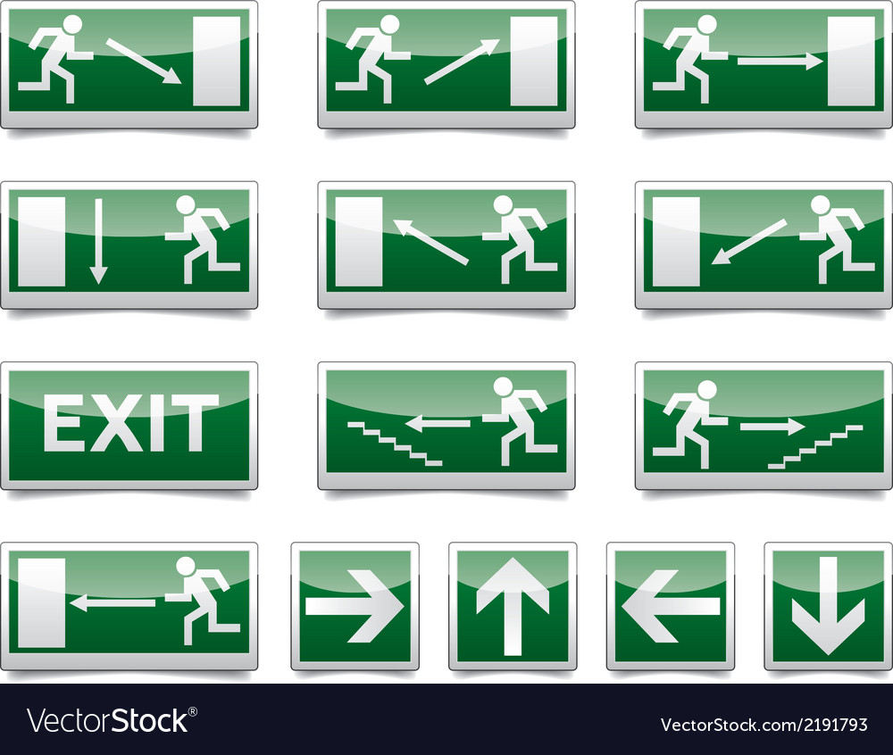 Danger exit warning sign vector | Price: 1 Credit (USD $1)