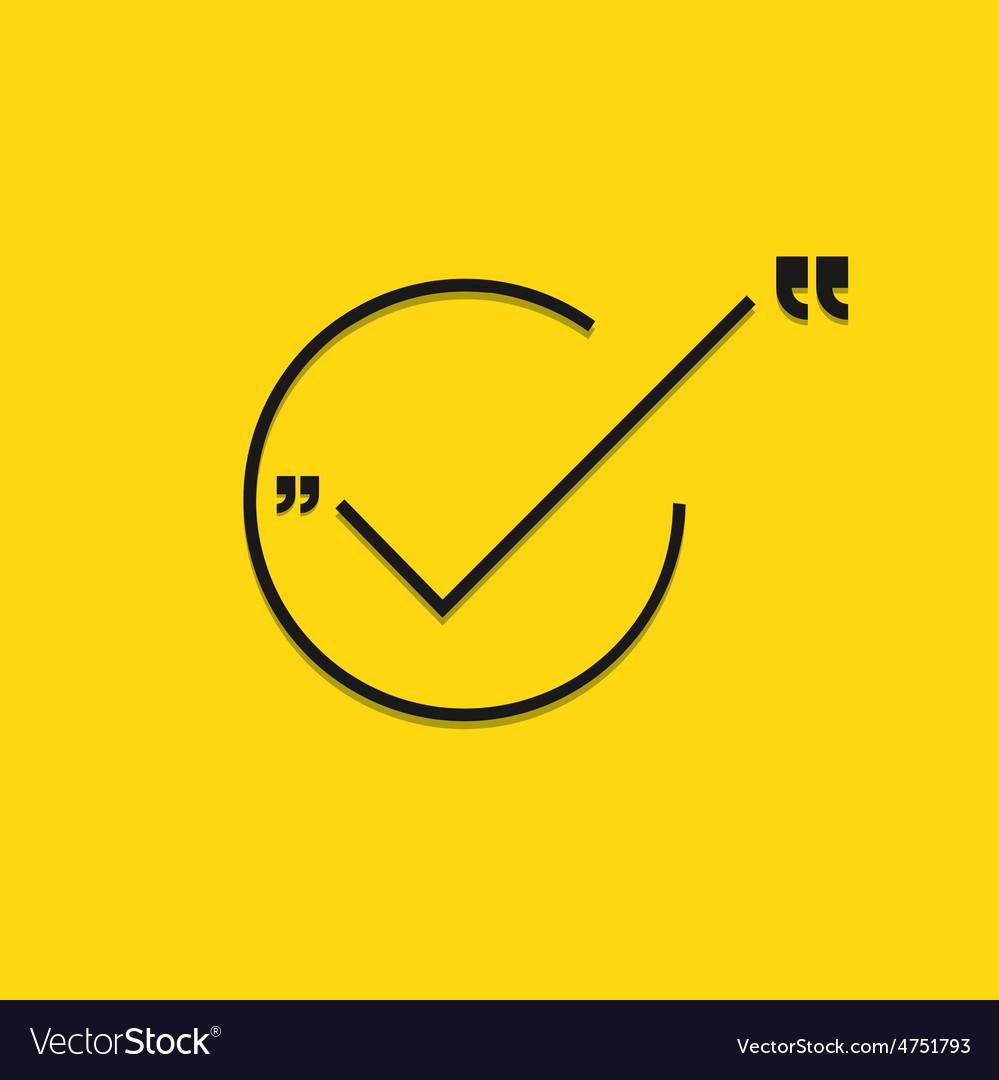 Modern black check mark on yellow vector | Price: 1 Credit (USD $1)