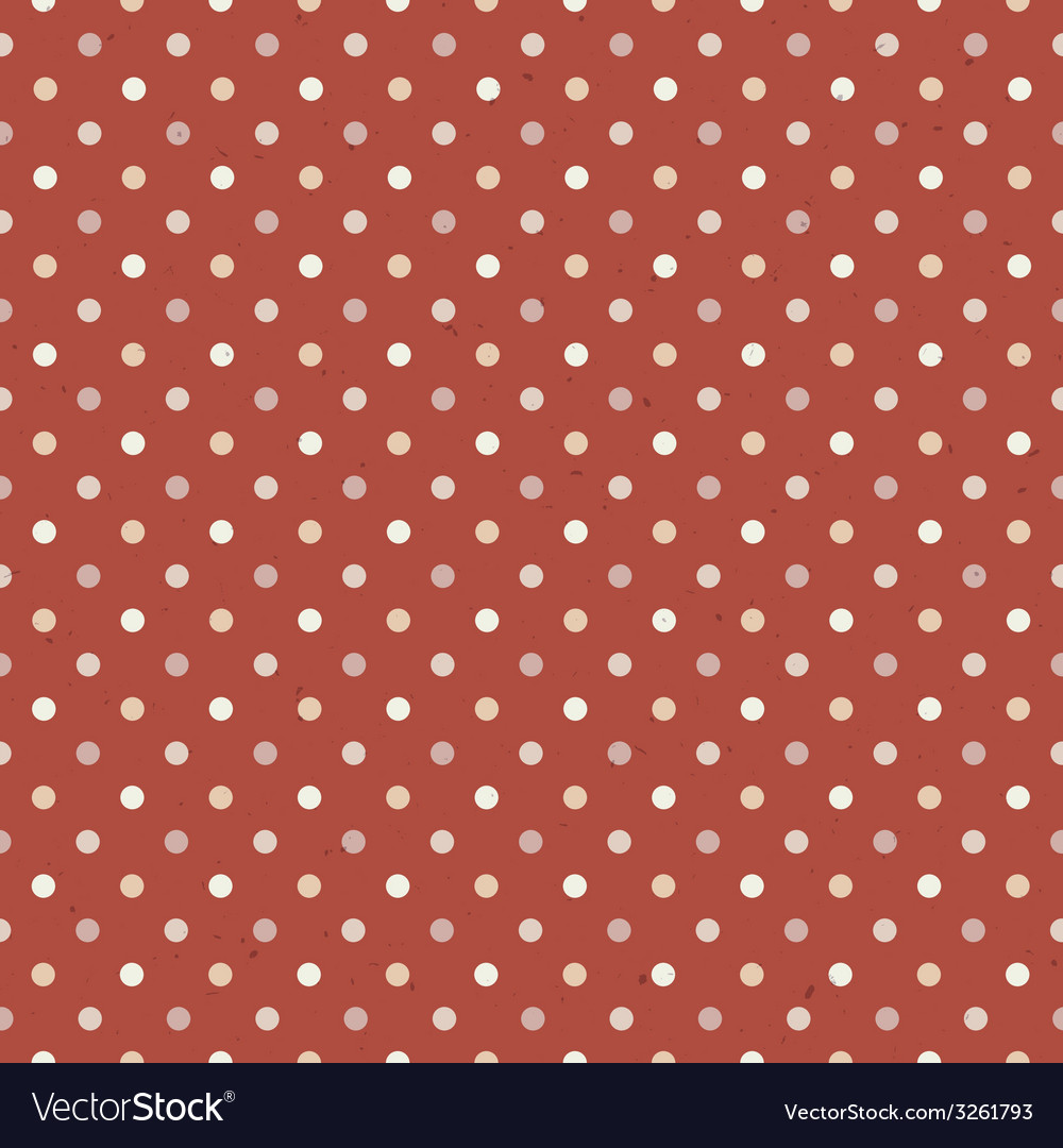 Seamless vintage polka dot vector | Price: 1 Credit (USD $1)