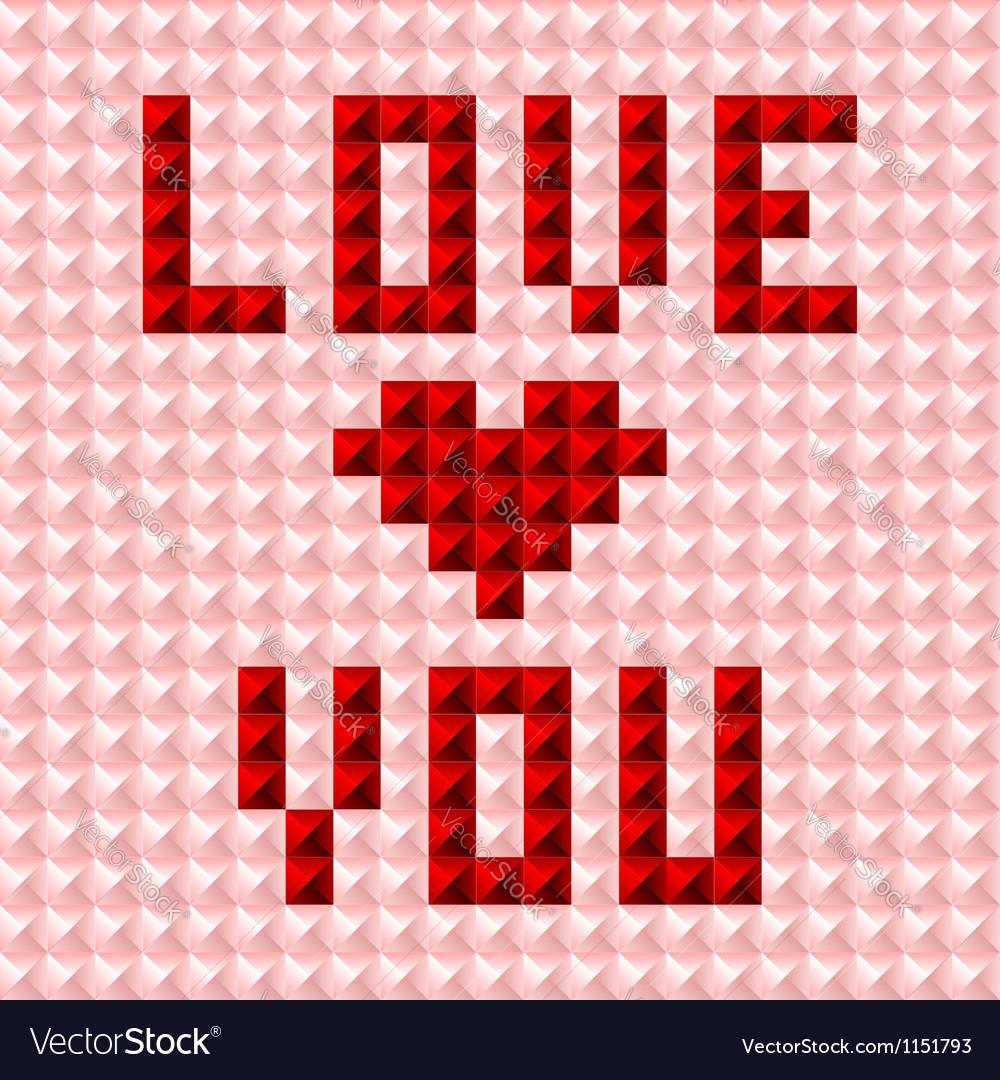 Silky valentine pattern postcard vector | Price:  Credit (USD $)