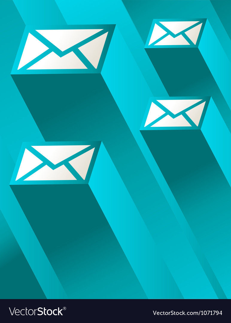 Blue mail vector | Price: 1 Credit (USD $1)