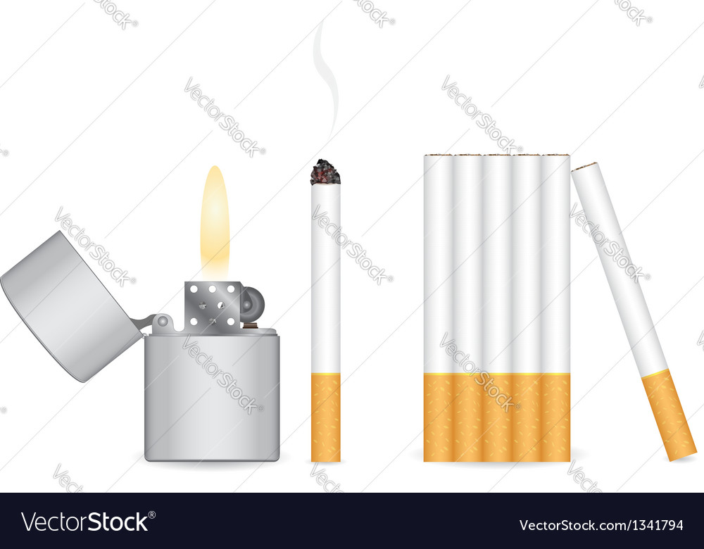 Cigarette and lighter vector | Price: 1 Credit (USD $1)
