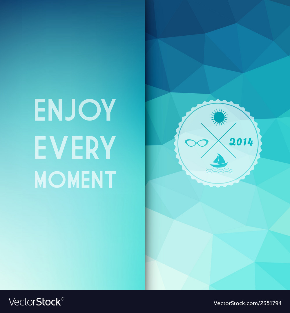 Colored background with summer text vector   Price: 1 Credit (USD $1)