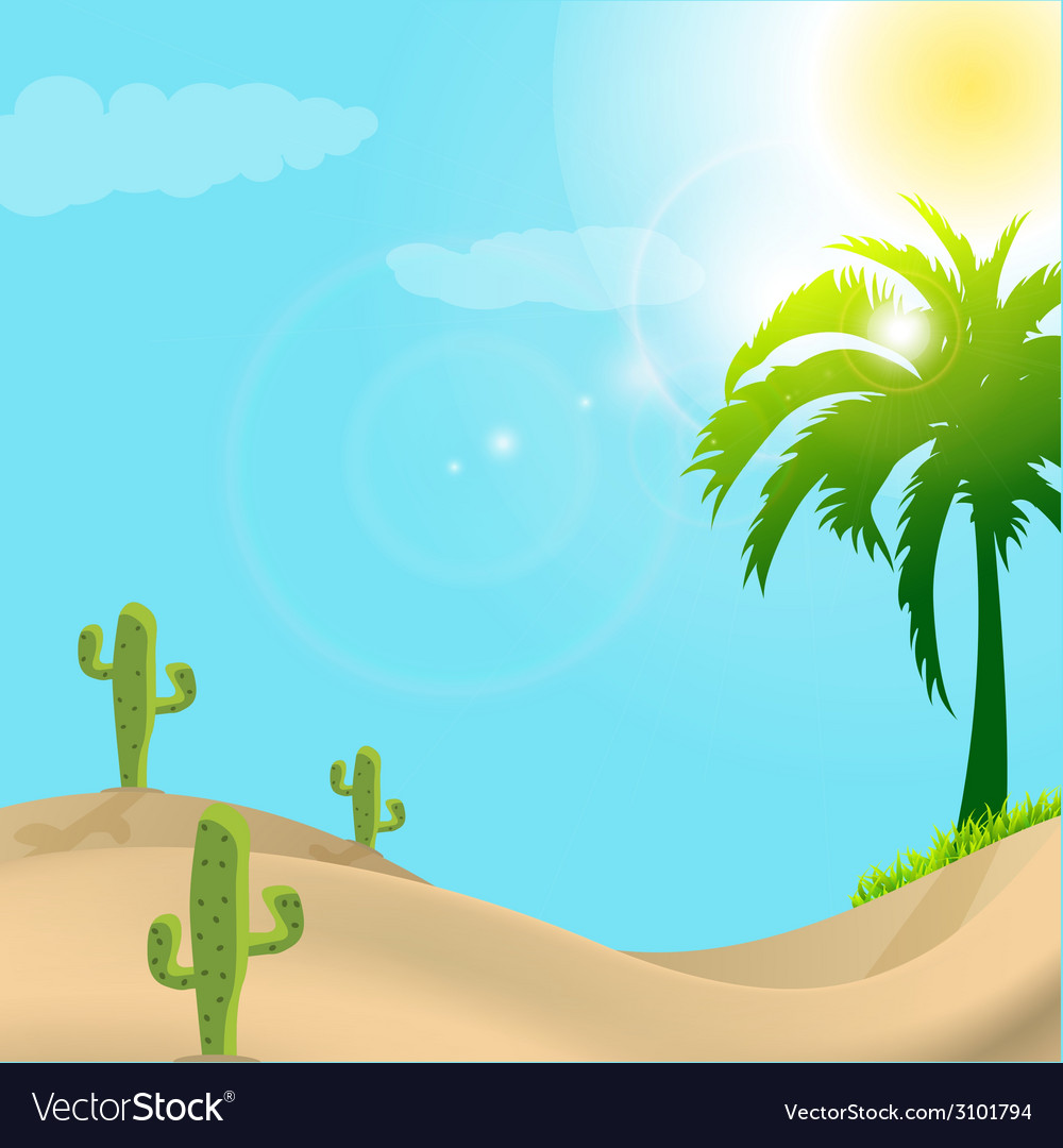 Desert scene in day light vector | Price: 1 Credit (USD $1)