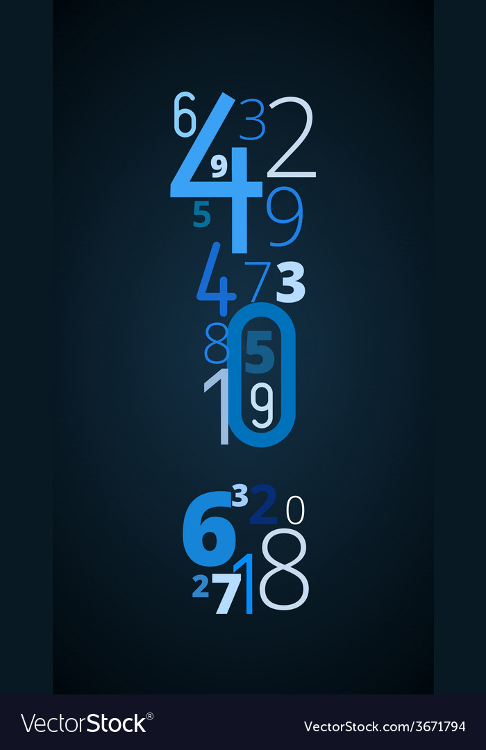 Exclamation mark font from numbers vector | Price: 1 Credit (USD $1)