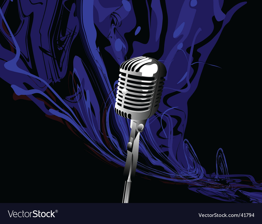 Music mic vector | Price: 1 Credit (USD $1)