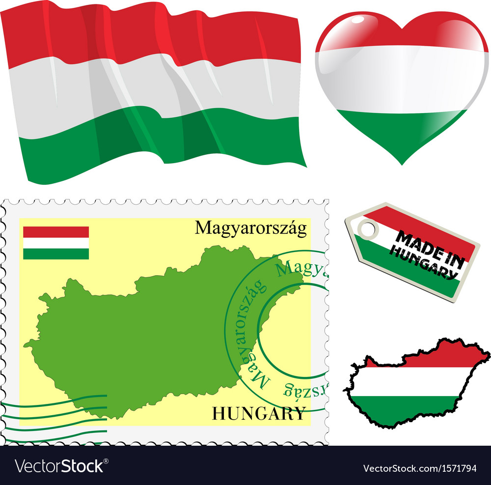 National colours of hungary vector | Price: 1 Credit (USD $1)