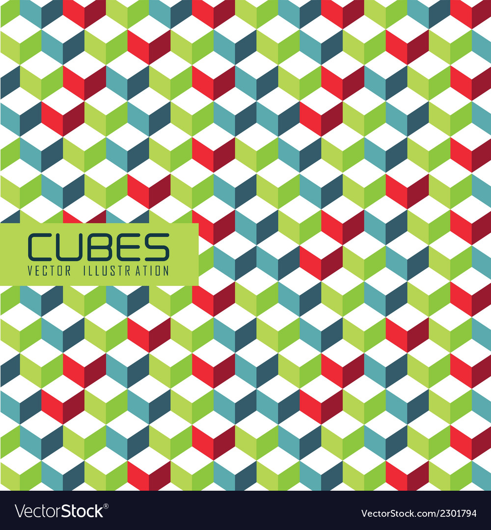 Pattern of cubes vector | Price: 1 Credit (USD $1)