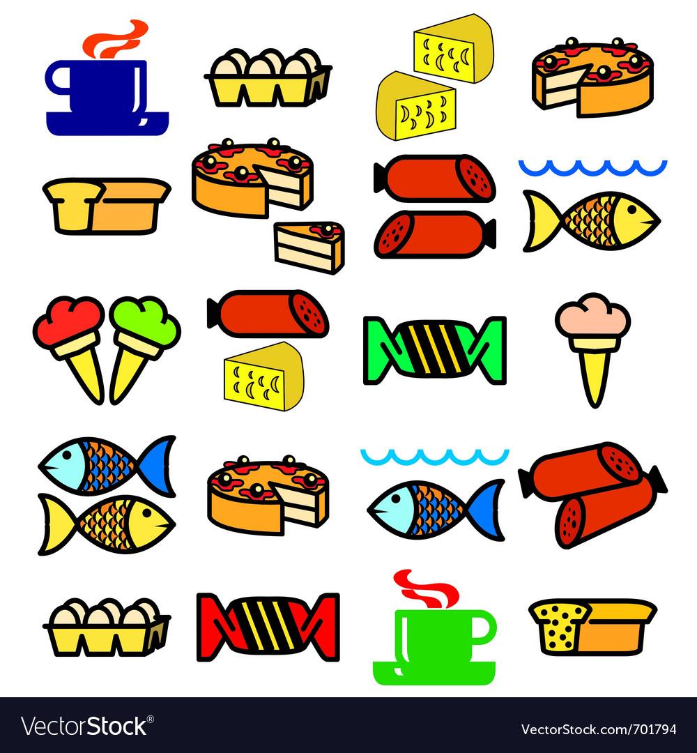 Set of food vector | Price: 1 Credit (USD $1)