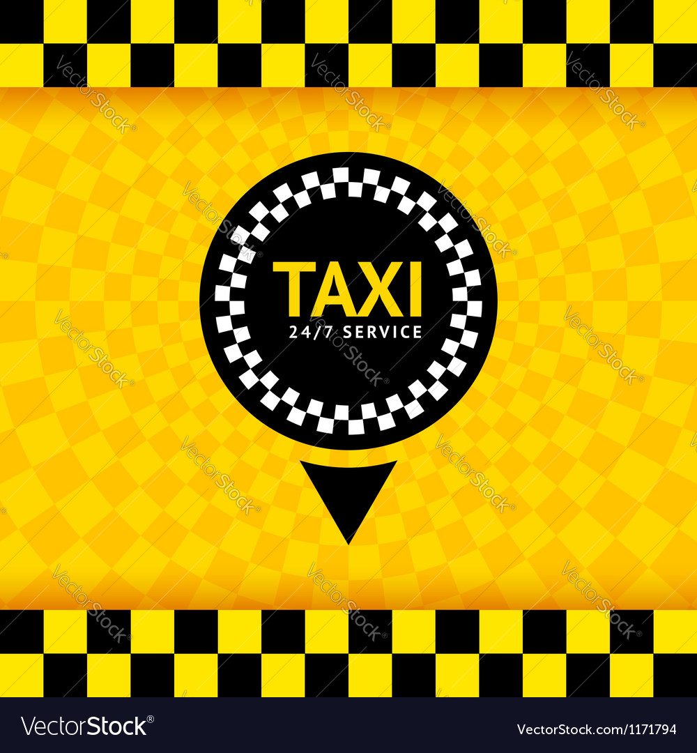 Taxi symbol new background 10eps vector | Price: 1 Credit (USD $1)