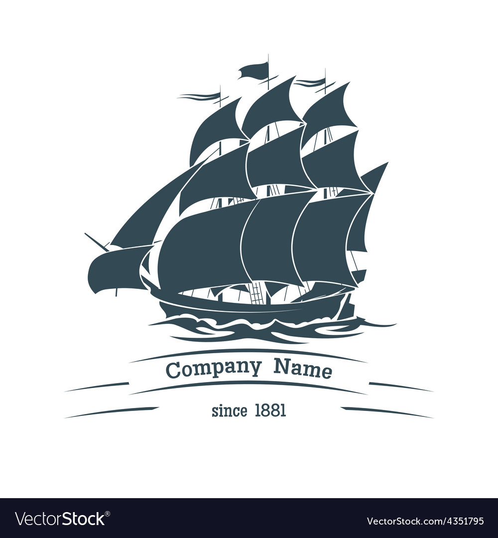 Big sail ship logo icon vector   Price: 1 Credit (USD $1)
