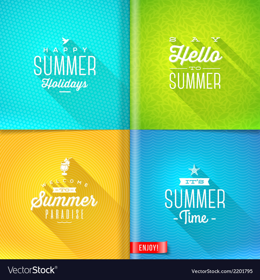 Booklet template - set of summer greeting sign vector | Price: 1 Credit (USD $1)