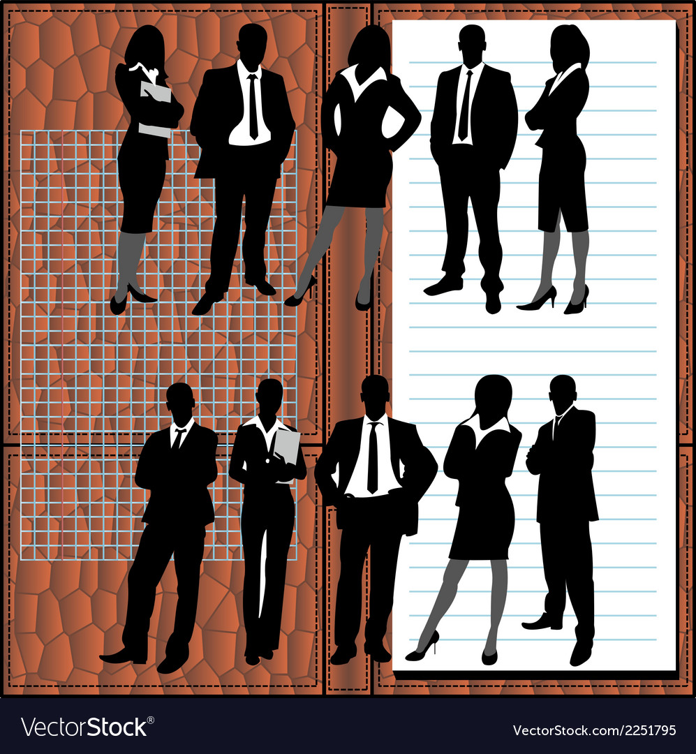 Business people1 vector | Price: 1 Credit (USD $1)