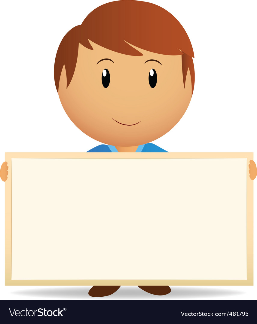 cartoon men with billboard vector | Price: 1 Credit (USD $1)