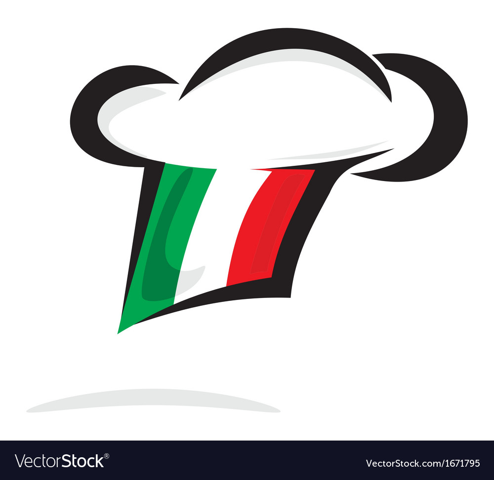 Italian chef hat vector | Price: 1 Credit (USD $1)