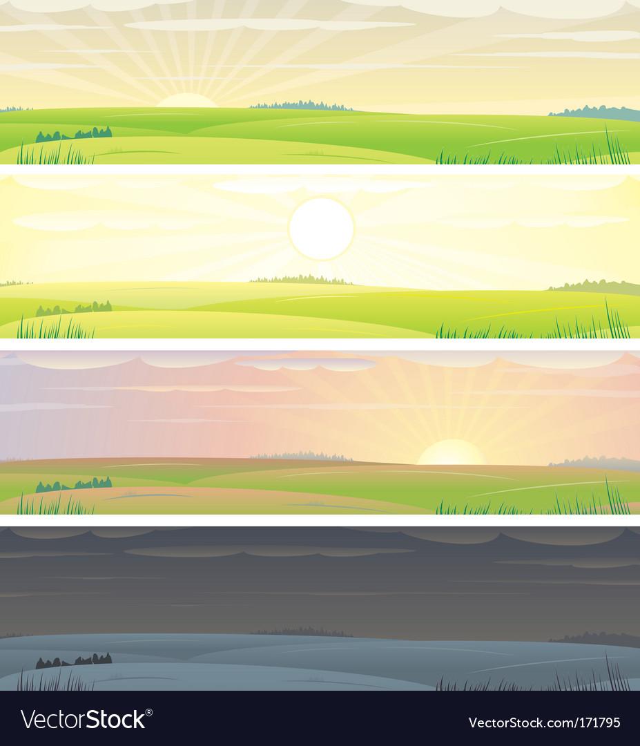 Landscapes vector | Price: 1 Credit (USD $1)
