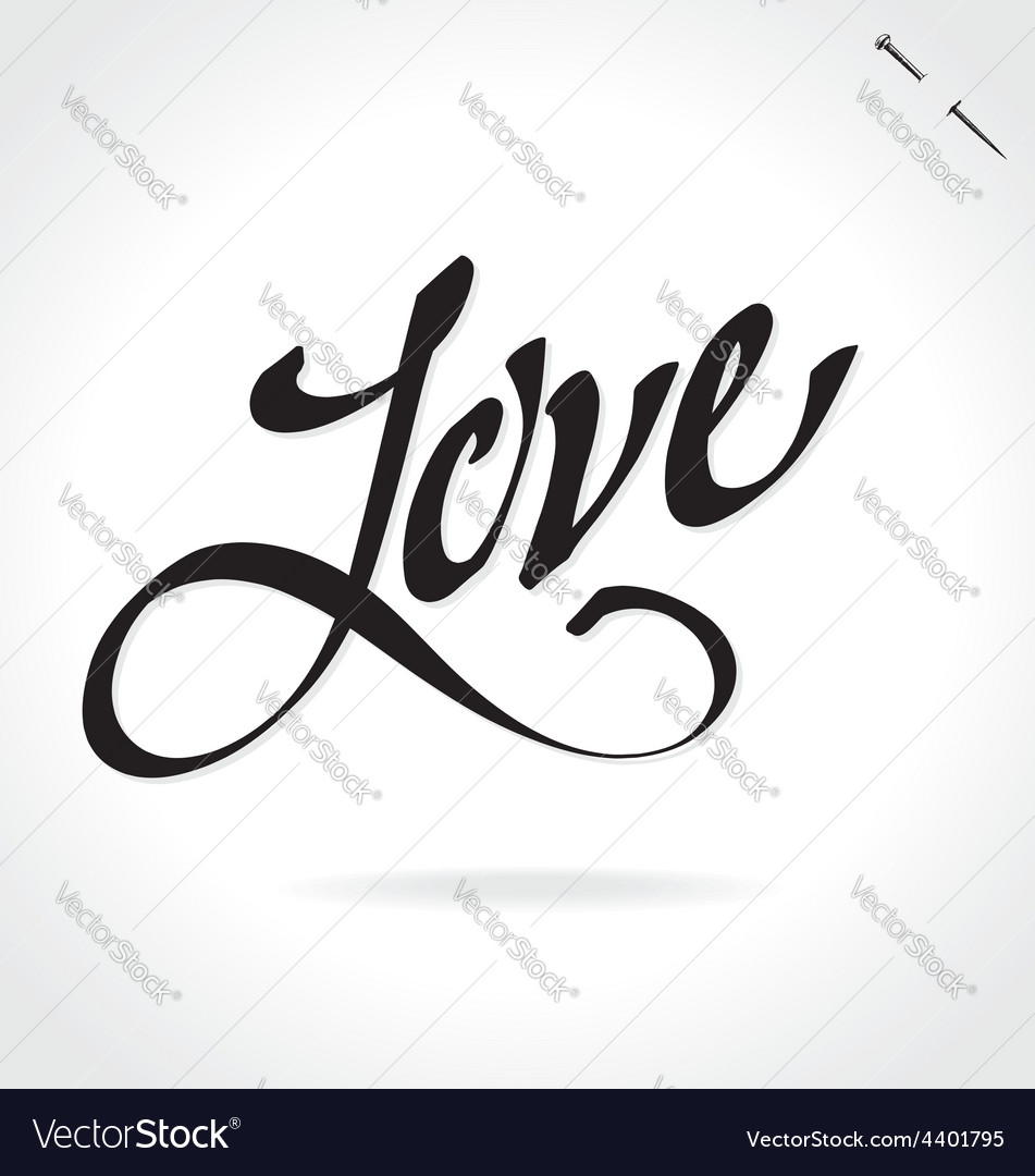Love hand lettering vector | Price: 1 Credit (USD $1)