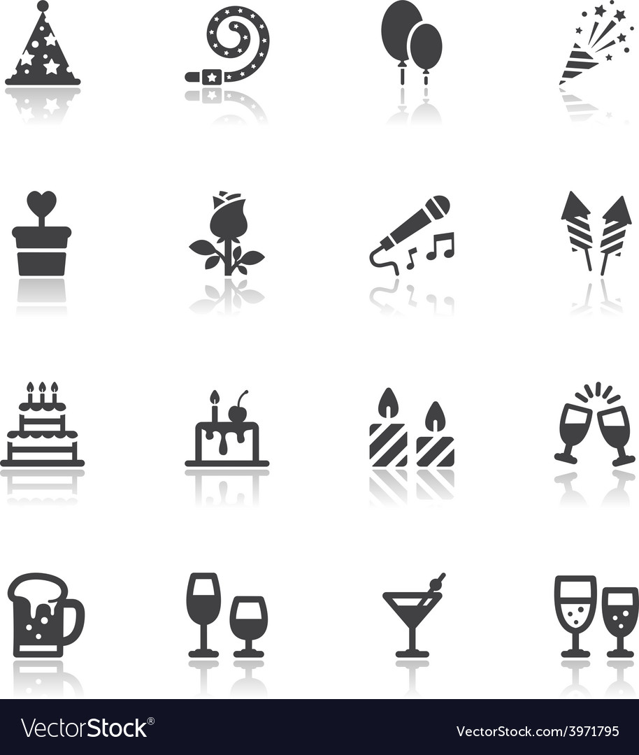 Party and celebration icons vector | Price: 1 Credit (USD $1)