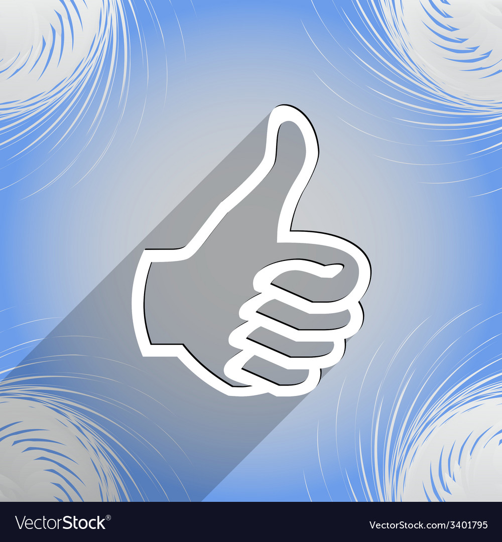 Thumb up icon symbol flat modern web design with vector | Price: 1 Credit (USD $1)