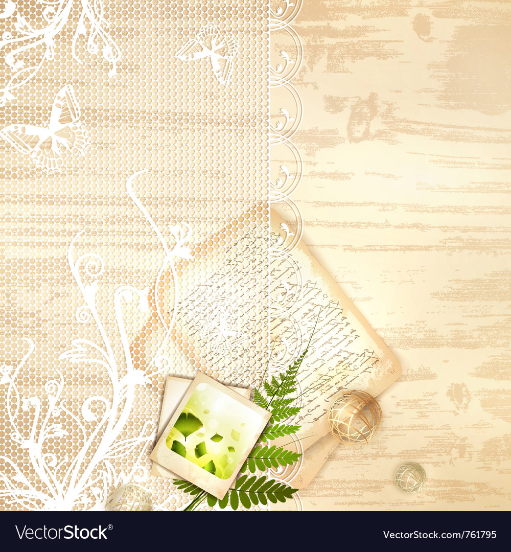 Vintage lace frame vector | Price: 1 Credit (USD $1)