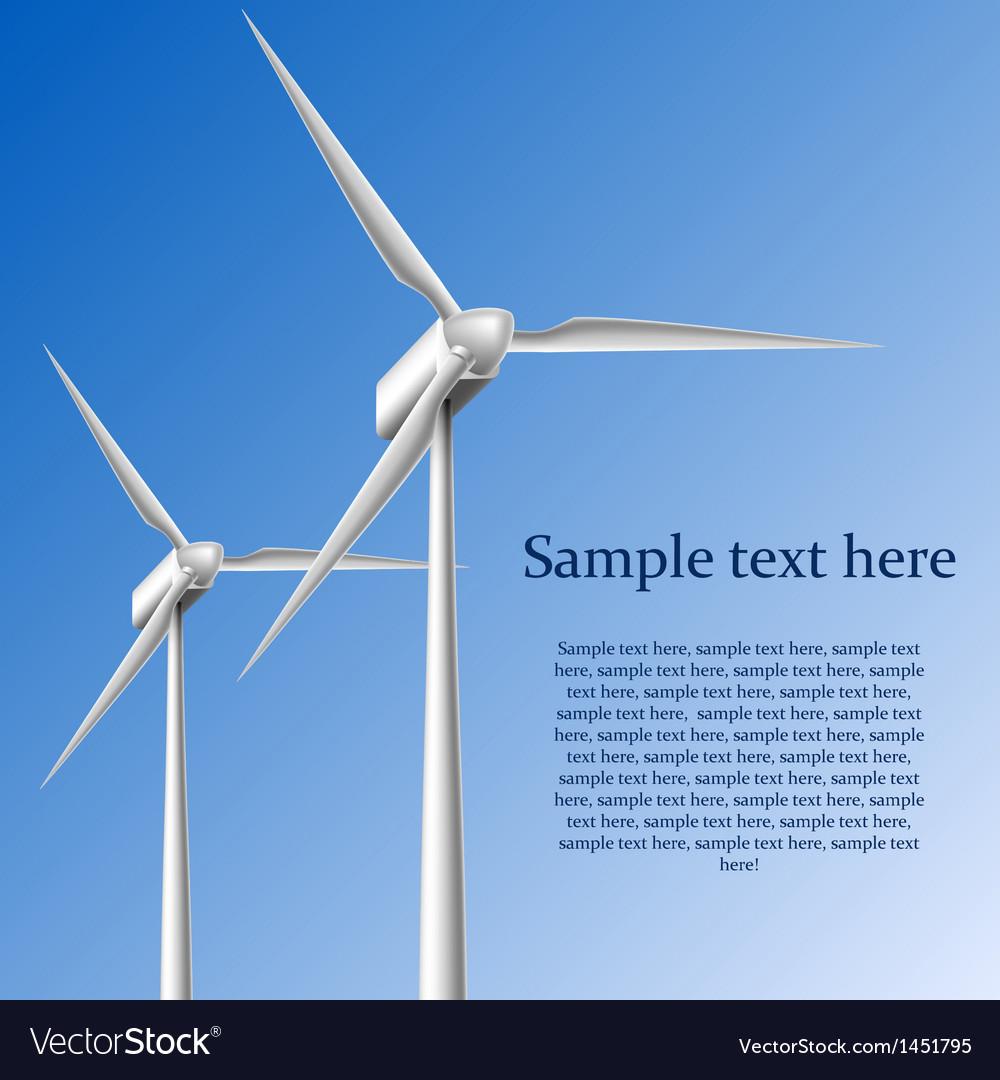Wind generators vector | Price: 1 Credit (USD $1)