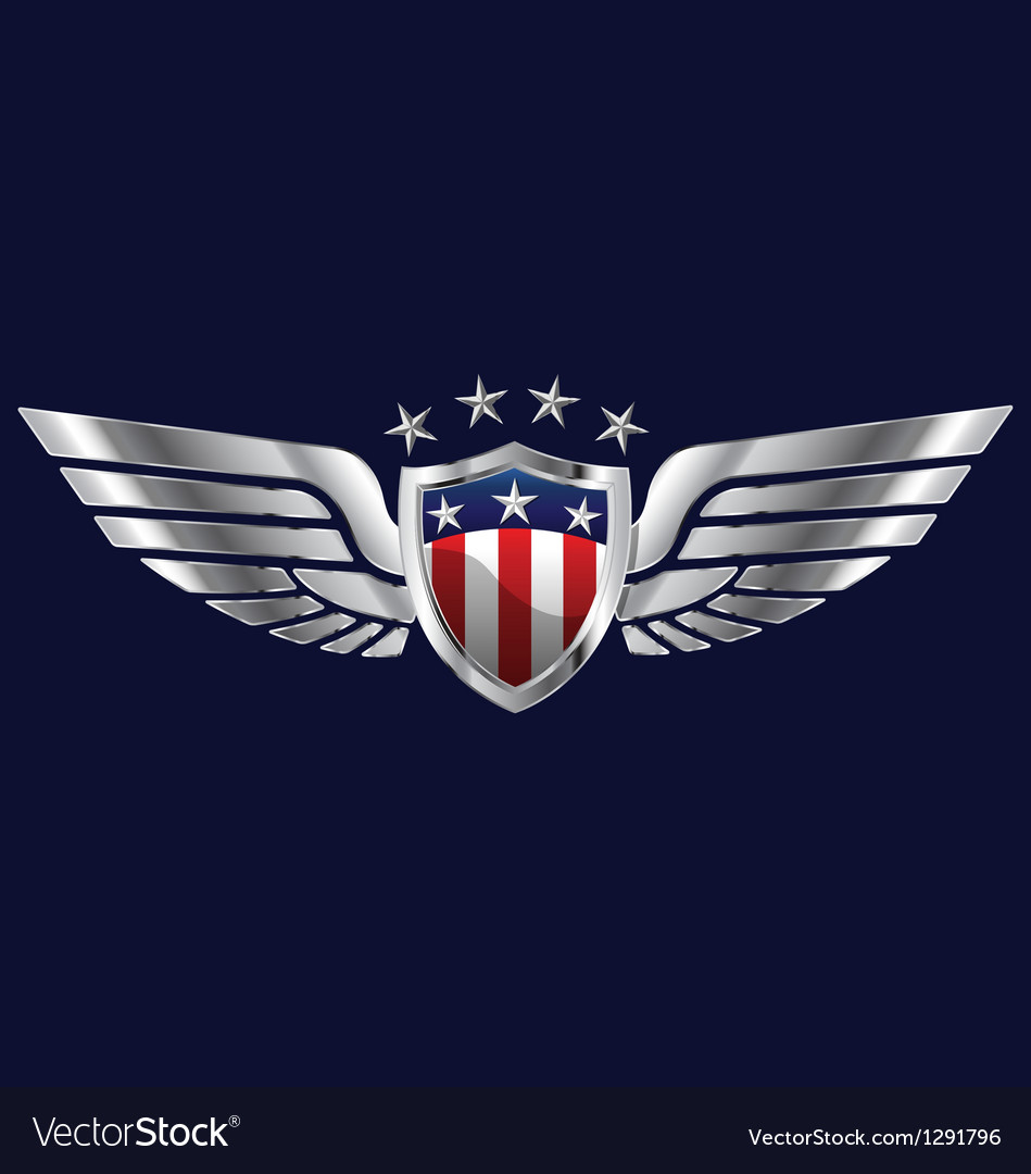American wings vector | Price: 1 Credit (USD $1)