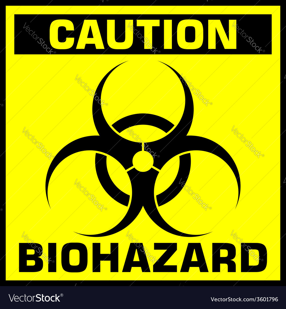 Caution biohazard sign vector | Price: 1 Credit (USD $1)